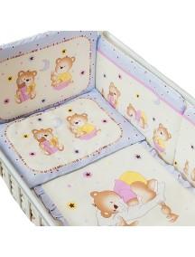 Комплект в кроватку Перина Ника 3 предмета Мишка на подушке Лиловый