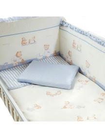 Комплект в кроватку Перина Тиффани 3 предмета Неженка Голубая