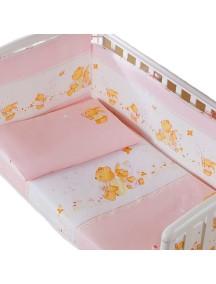 Комплект в кроватку Перина Фея 3 предмета Лето Розовое