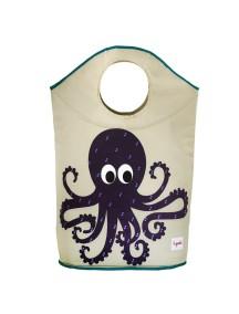 """Корзина для белья 3 Sprouts """"Осьминог"""" (Purple Octopus)"""