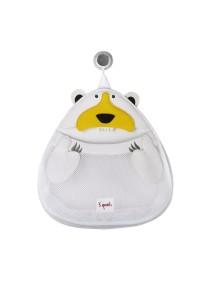 Органайзер для ванной комнаты 3 Sprouts «Белый мишка»  (White Polar bear)