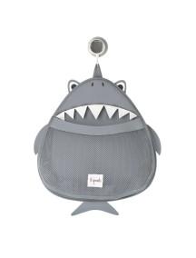 Органайзер для ванной комнаты 3 Sprouts « Акула»  (Grey Shark)