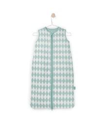 Спальный мешок утепленный Jollein 70 см Diamond green (Зеленые ромбы)