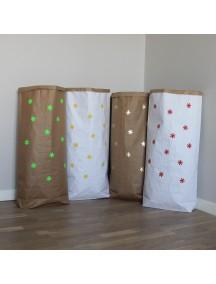 Эко-мешок для игрушек из крафт бумаги Snowfall