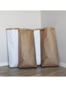 Эко-мешок для игрушек из крафт бумаги без рисунка (можно раскрасить фломастерами или обклеить наклейками)