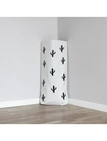 Эко-мешок для игрушек Cacti (черный)