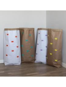 Эко-мешок для игрушек из крафт бумаги Small Crowns