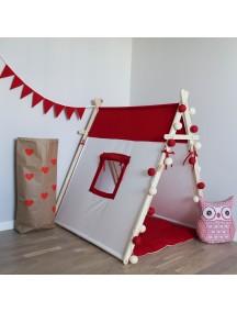 Игровая палатка ручной работы для детей, Simple Red с окном