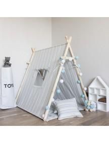 Игровая палатка с окном ручной работы для детей, Blue Stripes