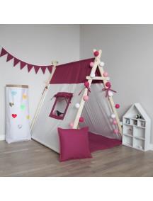 Игровая палатка с окном ручной работы для детей, Deep Pink