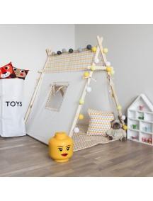Игровая палатка с окном ручной работы для детей,  Triangles