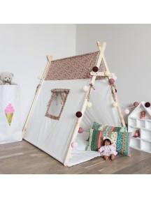 Игровая палатка с окном ручной работы для детей,  Coral Shabby