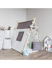 Игровая палатка с окном ручной работы для детей,  Blue Shabby