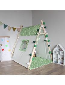 Игровая палатка с окном ручной работы для детей, Grassland