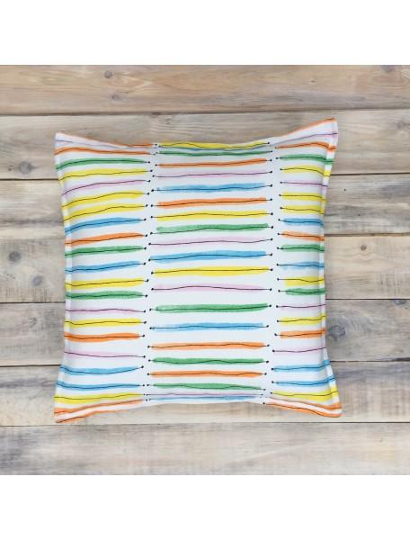 Интерьерные подушки ручной работы, Rainbow Stripes 40х40 см