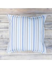 Интерьерная подушка ручной работы, Blue Stripes 40 х 40 см