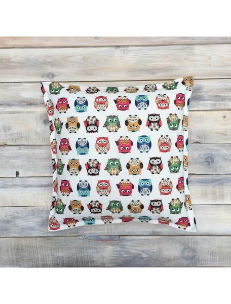 Интерьерные подушки ручной работы, Funky Owl 40х40 см