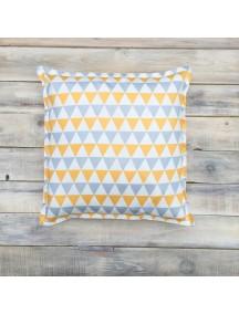 Интерьерная подушка ручной работы, Triangles 40 х 40 см