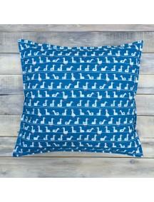 Интерьерная подушка ручной работы, Blue Goose