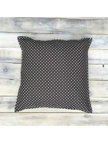 Интерьерная подушка ручной работы, Brown Dots
