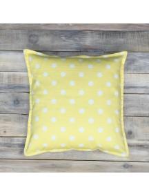 Интерьерная подушка ручной работы, Yellow Dots
