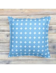 Интерьерная подушка ручной работы, Swiss Blue