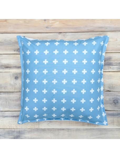 Интерьерные подушки ручной работы, Swiss Blue 40х40 см