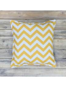 Интерьерная подушка ручной работы, Yellow Zigzag 40 х 40 см