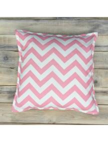 Интерьерная подушка ручной работы, Pink Zigzag 40 х 40 см