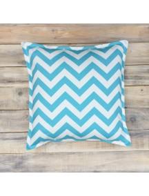 Интерьерная подушка ручной работы, Blue Zigzag 40 х 40 см