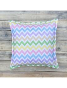Интерьерная подушка ручной работы, Rainbow Zigzag 40 х 40 см