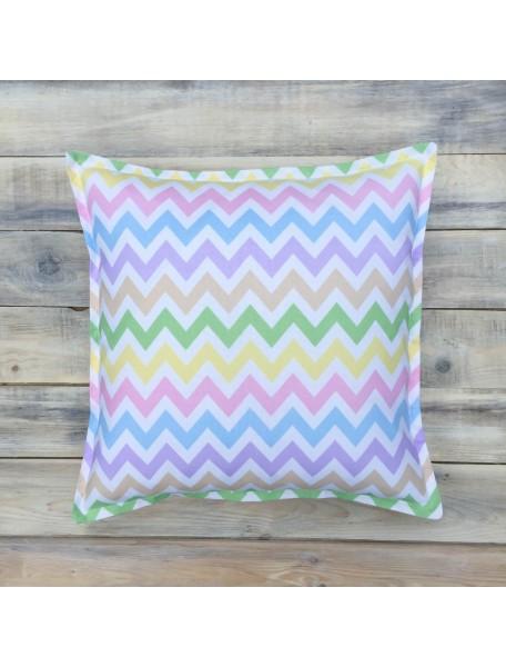 Интерьерные подушки ручной работы, Rainbow Zigzag 40х40 см
