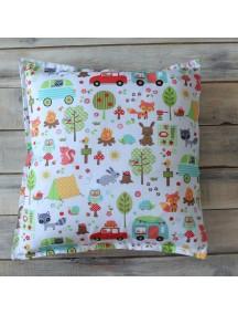 Интерьерная подушка ручной работы, Forest Party 40 х 40 см