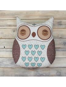 Интерьерная подушка ручной работы, Подушка Little Owl №9 50 х 50 см