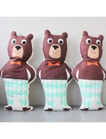 Интерьерная подушка ручной работы,  Funky Bear