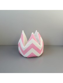 Мягкая корона Pink Zigzag