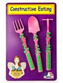 Набор из трех столовых приборов. Серия Волшебный сад, Constructive Eating
