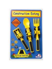 Набор из трех столовых приборов. Строительная серия, Constructive Eating