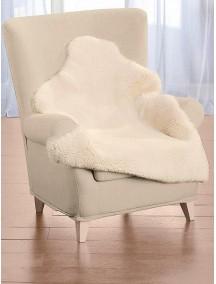 Коврик меховой из овчины 110 см медицинского назначения немецкого производителя Heitmann Felle (белый)
