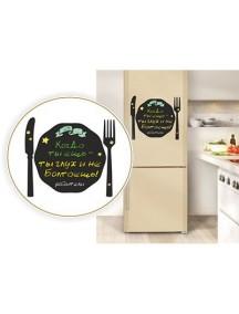 "Магнит для мела на холодильник ""Тарелка"""