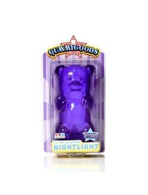 Ночник GummyGoods Mustachifier, фиолетовый