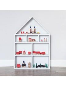 Полка-домик для игрушек Milan (белый)