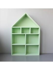 Полка-домик для игрушек с лестницей и без (зеленый)