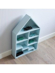 Полка-домик для игрушек Milan с лестницей (голубой)