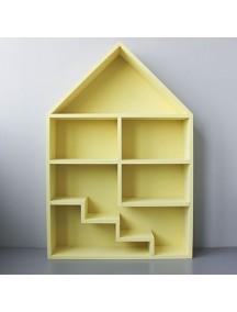 Полка-домик для игрушек Milan с лестницей (желтый)