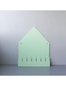 Полка домик с крючками Oslo (большой, зеленый)