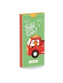 3D-игрушка в плоской упаковке FOLD MY Пожарная машина, Krooom