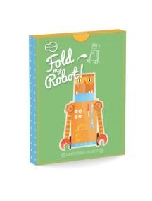 3D-игрушка в плоской упаковке FOLD MY Робот строитель, Krooom