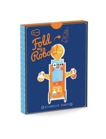 3D-игрушка в плоской упаковке FOLD MY Робот ученый, Krooom