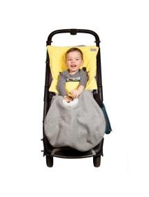 Конверт в коляску и автокресло. Цвет: Серый с желтым
